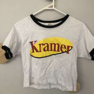 Cropped Seinfeld Kramer tshirt