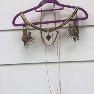 Kookai shoulder chain(new), body chain, belt in rustic gold(Prices for the lot) not for individual sale