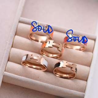 H Logo Ring 3 colors to choose