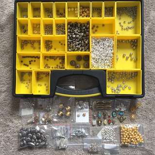Assorted metal beads