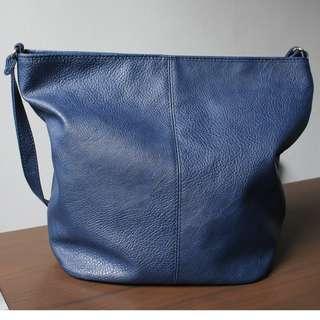 Sling Bucket Bag - Made In Korea (Navy)