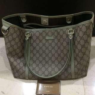 Gucci tote bag green