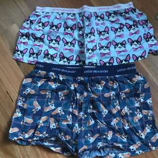 Peter Alexander Frenchie And Dachshund PJ Shorts!