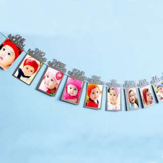 Free Postage - preorder -Monthly photo banner for 1st birthday party <3
