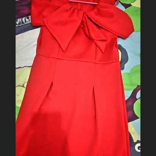 [Super Murah] Red Dress Sabrina