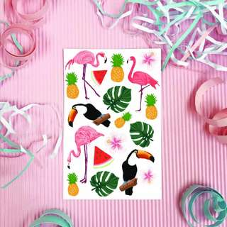 Flamingo Sticker Set