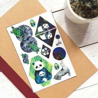Panda Sticker Set