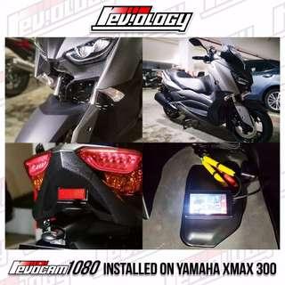 Revocam 1080 HD Motorcycle Front & Rear Camera On Yamaha XMAX 300