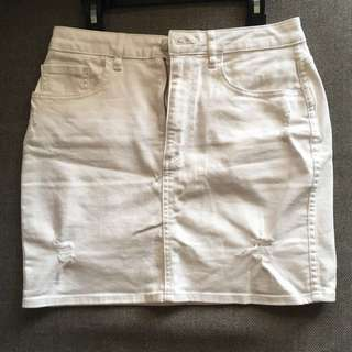 Lee White Denim Mini