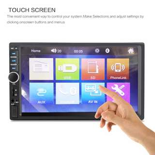 2DIN 7in Touchscreen Bluetooth car multiplayer