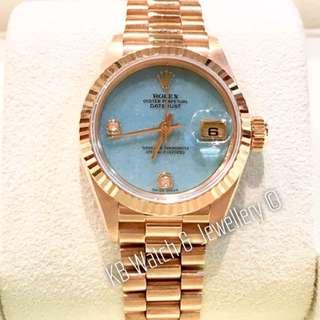 Rolex 18K Yellow Gold Ladies Datejust Watch - 26mm