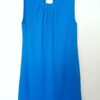 🚚 BN Sexy back Bright Blue Dress