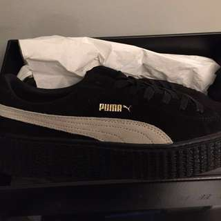Black&White Suede Puma Fenty Creepers
