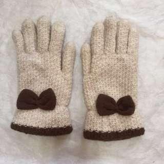 淑女保暖手套(內裡舖棉)