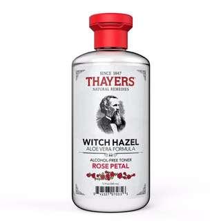 THAYERS ROSE PETAL WITCH HAZEL WITH ALOEVERA TONER (355ml)