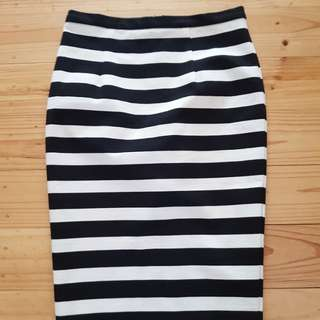 Forever new stripe midi skirt size 10