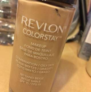 Revlon colorstay foundation in 180 sand beige