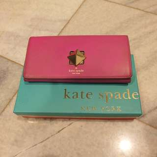 Authentic KATE SPADE pink wallet