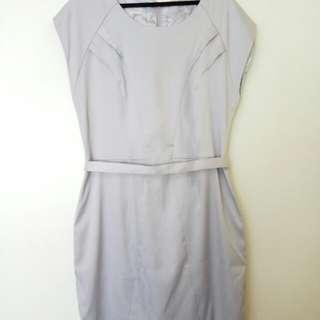 Light Grey Work Dress