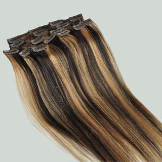 Full Head Clip In 100% Human Hair Extentions 150g