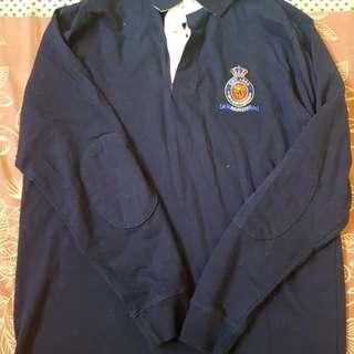 Men's Navy Spring/Winter Long Sleeve Uniform Style Shirt