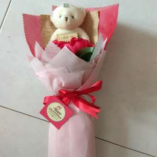 Valentine's day rose with cute bear for sale