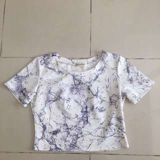 Shirt white marble pattern