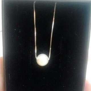 925純銀貝珠鎖骨項鍊