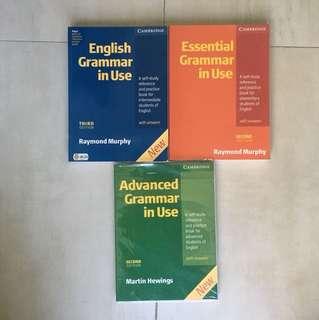 Cambridge Grammar in Use set of 3