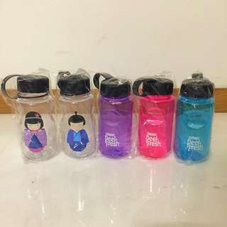 5 hard plastic water bottles