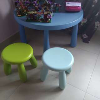 Kids Ikea Activity Round Table with Stools