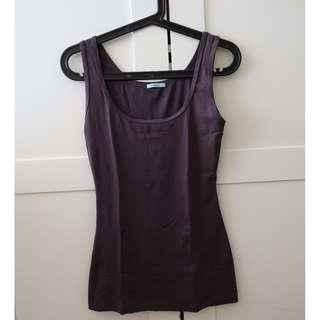 Kookai basic tank top (purple grey) - size 1