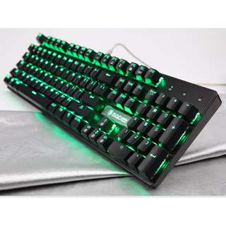 (FREE XL mousepad) Original SADES K10 Real Mechanical Gaming Keyboard (Green)