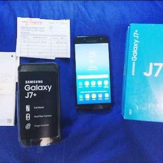 Samsung galaxy J7+ plus ram 4 Internal 32Gb Baru Seminggu