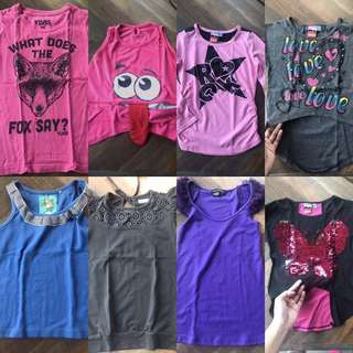 Tops or shirts for little girls 5-6 yrs old