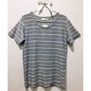 Thin Strip Shirt - Made in Korea (Grey)