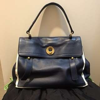 Authentic YSL Muse 2 Classic in navy white