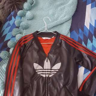 Adidas Leather look Jacket