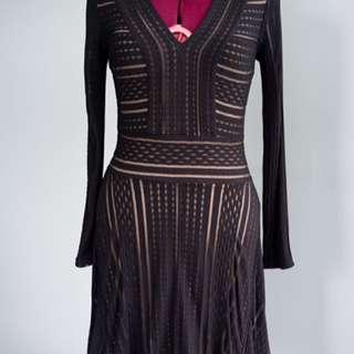 BNWT BCBG black & Nude Dress