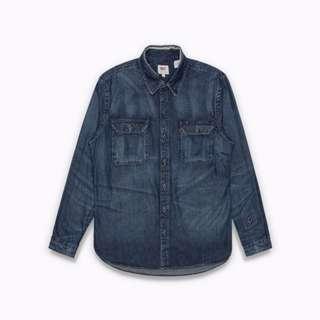 16SS / LEVI'S LEVIS / SHIRTS 19573-0000 / 深藍*破壞*補丁*長袖*襯衫