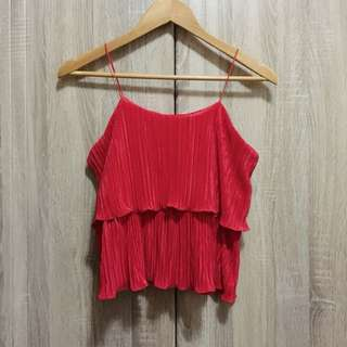 Textured Red Top