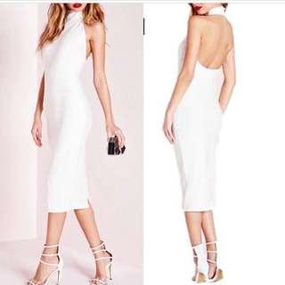 dress putih backless