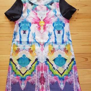 Watercolour shift dress
