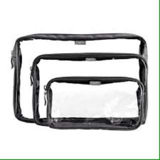 Clear pouches for make up