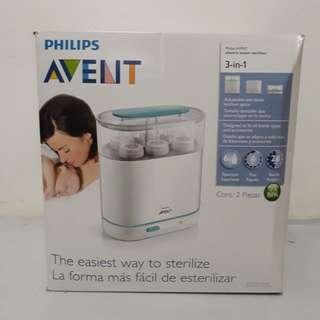 Philips AVENT 3-in-1 Electric Steam Sterilizer and Meiji stepdown transformer