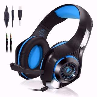Gaming Headset for New Xbox One PC, Beexcellent Comfortable 3.5mm LED Light Gaming Headset Bass Stereo Over-ear Headphone with Microphone for PS4 / Xbox One S / Xbox One / PC / Computer / Mac / Cellphone
