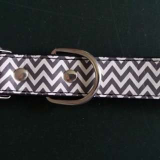 Zig zag pattern dog collar