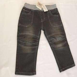 NEW CHARLIE & ME Grey Denim Rib Waist Jeans Size 2