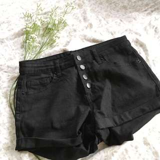 Forever 21 Black High Waisted Shorts (size 26)