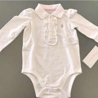 NEW RALPH LAUREN Polo Bodysuit baby girl 9m